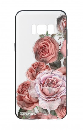Cover Bicomponente Samsung S8 Plus - Bouquet di rose bianco