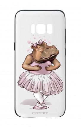 Cover Bicomponente Samsung S8 Plus - Ippopotamo ballerina bianco