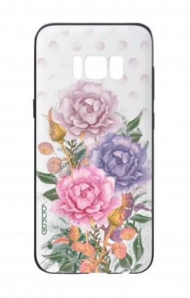 Cover Bicomponente Samsung S8 Plus - Bouquet e pois bianco
