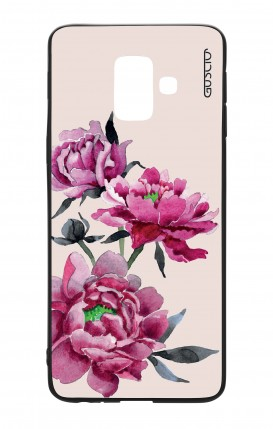 Cover Bicomponente Samsung J6 2018 WHT - Peonie rosa