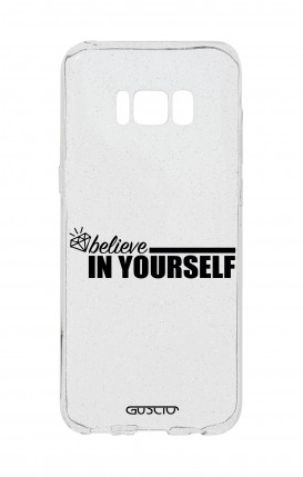 Cover GLITTER SOFT Sam S8Plus - Believe in Yourself