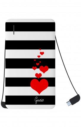 Power Bank 5000mAh iOs+Android - Loving Stripes