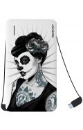 Power Bank 5000mAh iOs+Android - Calavera bianco e nero