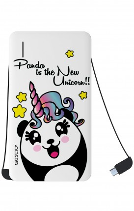 Power Bank 5000mAh iOs+Android - Pandacorno trasperente