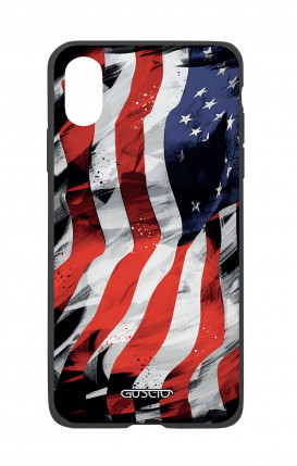 Apple iPhone X White Two-Component Cover - Used America Flag