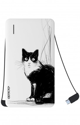 Power Bank 5000mAh Type-C+Android - B&W CAT