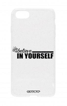 Cover Glitter Soft Apple iPhone 7/8 - credi in te stesso
