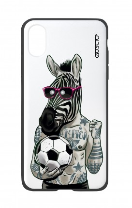 Cover Bicomponente Apple iPhone XR - Zebra bianco