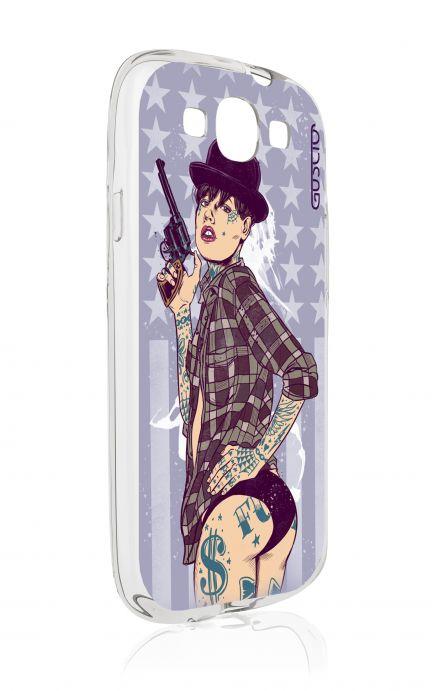 Cover Samsung Galaxy S3/S3 Neo - Pin up con pistola