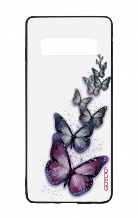 Samsung S10Plus WHT Two-Component Cover - Butterflies