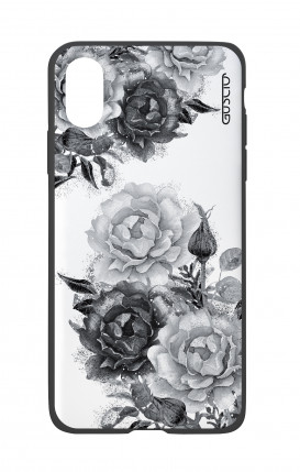 Apple iPhone X White Two-Component Cover - Black and White Bouquet
