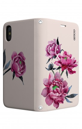 Case STAND Apple iphone XS MAX - Pink Peonias