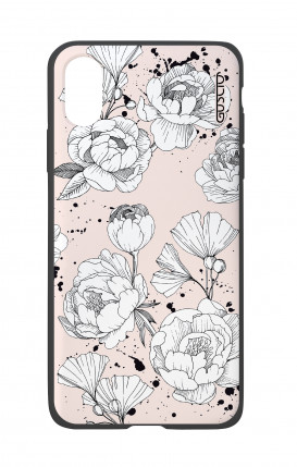 Apple iPhone X White Two-Component Cover - Peonias