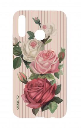 Cover Huawei P30 Lite - Rose e righe
