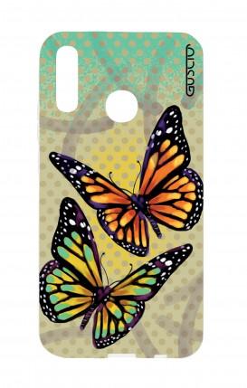 Cover Huawei P30 Lite - Polka dot and butterflies