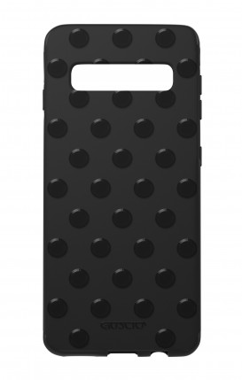 Cover Skin Feeling Samsung S10 Plus BLACK - Pois
