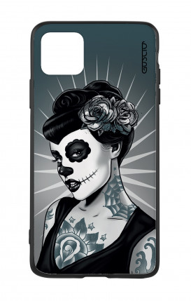Cover Bicomponente Apple iPhone 11 - Calavera bianco e nero