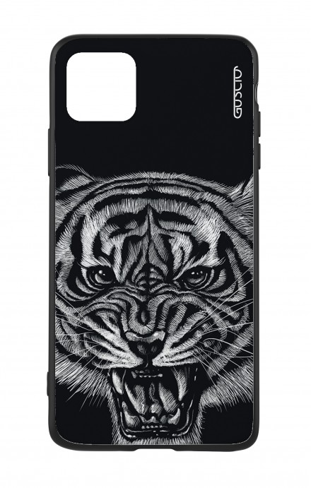 Apple iPhone 11 PRO Two-Component Cover - Black Tiger