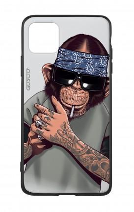 Cover Bicomponente Apple iPhone 11 PRO - Scimpanze con bandana