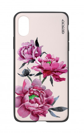 Apple iPhone X White Two-Component Cover - Pink Peonias