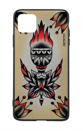 Apple iPhone 11 PRO Two-Component Cover - Old School Tattoo Flame