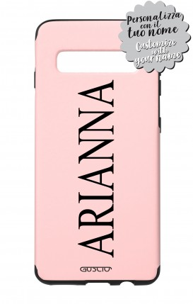 Cover Skin Feeling Samsung S10 Plus PINK - Nome Classic max 13 caratteri