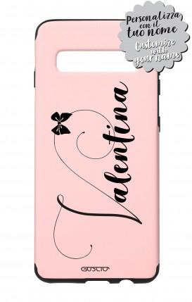 Cover Skin Feeling Samsung S10 Plus PINK - Nome Fiocco max 13 caratteri