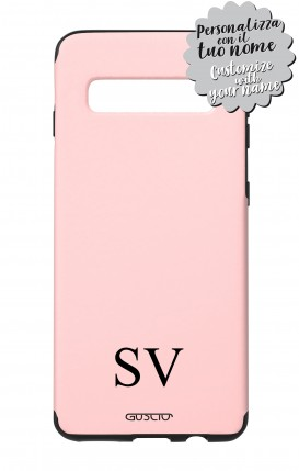 Cover Skin Feeling Samsung S10 Plus PINK - InizialiCifre max 3 caratteri