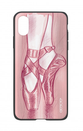 Apple iPhone X White Two-Component Cover - Ballet Slippers