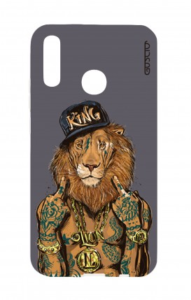 Cover Huawei P30 Lite - Lion King grigio