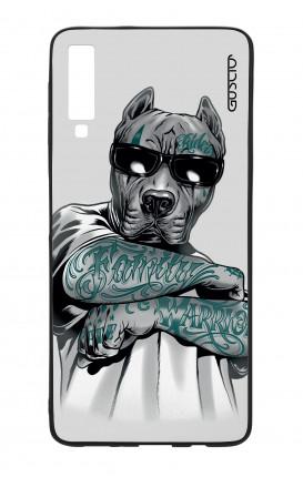 Cover Bicomponente Samsung A70  - Pitbull tatuato