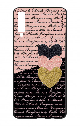 Samsung A70 Two-Component Case - Hearts on words