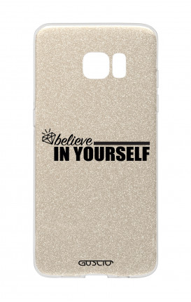 Cover GLITTER Samsung S7Edge GLD - Believe in Yourself
