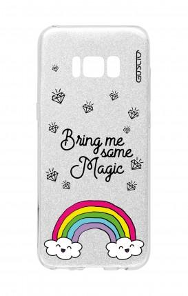 Cover GLITTER Samsung S8 SLV - l'arcobaleno magico