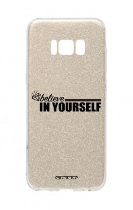 Cover GLITTER Samsung S8 GLD - credi in te stesso