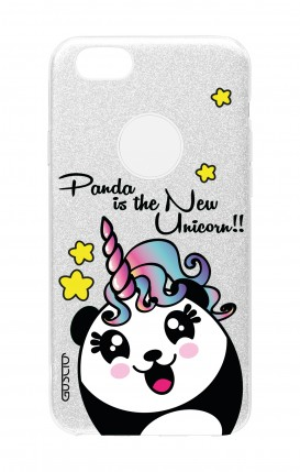 Cover GLITTER Apple iPhone 8PLus SLV - Pandacorno trasperente