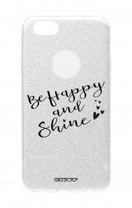 Cover GLITTER Apple iPhone 8PLus SLV - Sii felice e brilla