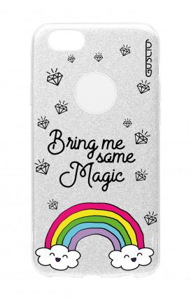 Cover GLITTER Apple iPhone 8PLus SLV - l'arcobaleno magico
