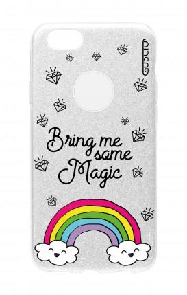 Cover GLITTER Apple iPhone 8PLus SLV - Raimbow magic