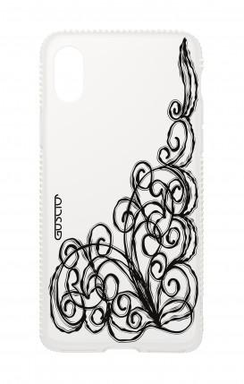 Apple iphone X Diamonds cover - WHT Lace Chocolate