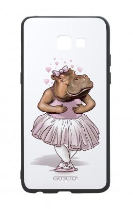 Cover Bicomponente Samsung A5 2017 - Ippopotamo ballerina bianco