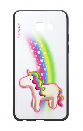 Cover Bicomponente Samsung A5 2017 - Unicorno e arcobaleno bianco