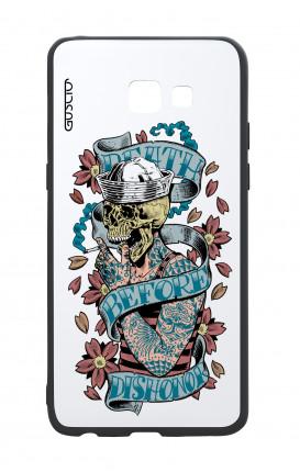 Cover Bicomponente Samsung A5 2017 - Death before dishonor bianco