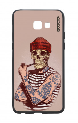 Samsung A5 2017 White Two-Component Cover - Skull Sailor with Red Cup
