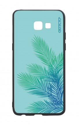 Cover Bicomponente Samsung A5 2017 - Foglie azzurre
