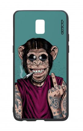 Samsung J5 2017 White Two-Component Cover - Monkey's always Happy