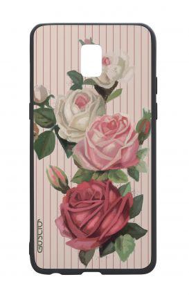 Cover Bicomponente Samsung J5 2017 - Rose e righe