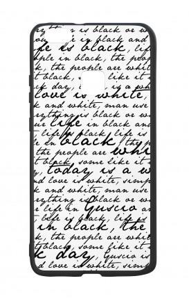 Cover Bicomponente Huawei P9Lite - Scritte in bianco e nero