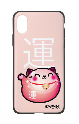 Apple iPhone X White Two-Component Cover - Japanese Fortune cat Kawaii