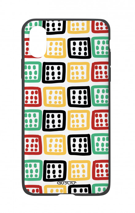 Apple iPhone X White Two-Component Cover - Monitor Abstract